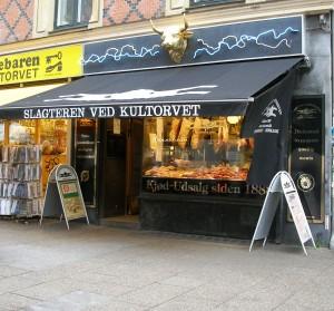 The butcher at Kultorvet