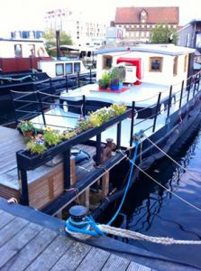 Houseboats in Copenhagen harbor